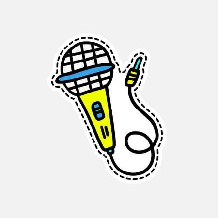 Geïsoleerde vectorillustratie in patch-stijl. Geweldig ontwerp voor borduurwerk, sticker of pin. Stock Illustratie