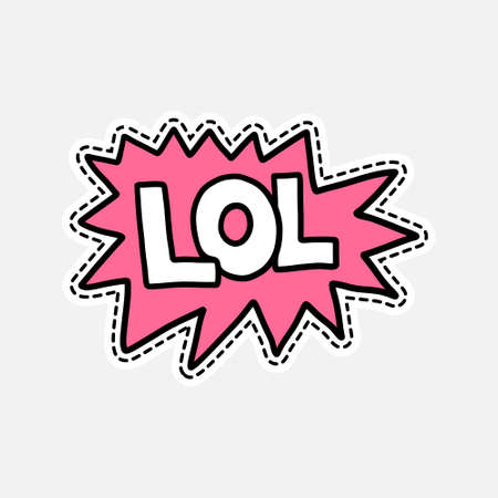 laugh out loud: Isolated vector illustration in patch style. Great design for embroidery, sticker or pin.