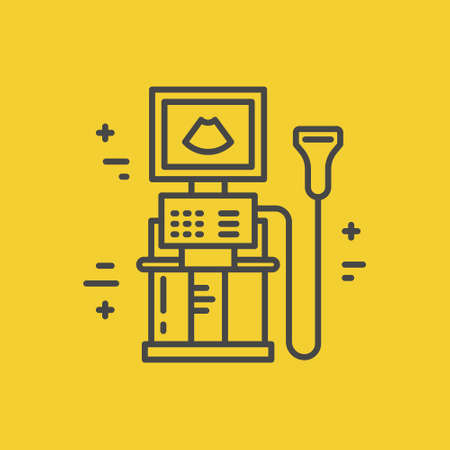 Icon of an ultrasound test.