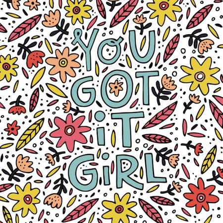 You got it girl design. Stock fotó - 88671504
