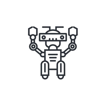 Icon of a modern robot made in line style.