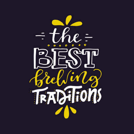 Beer lettering - the best brewing traditions - great for brewery.