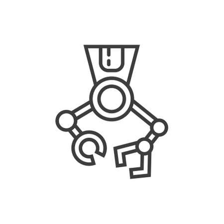 Icône de la ligne moderne avec équipement de technologies de chirurgie moderne. Banque d'images - 88888599