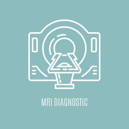 Geïsoleerde icoon van MRI-apparatuur.