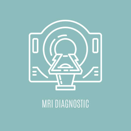 Isolated icon of MRI equipment.