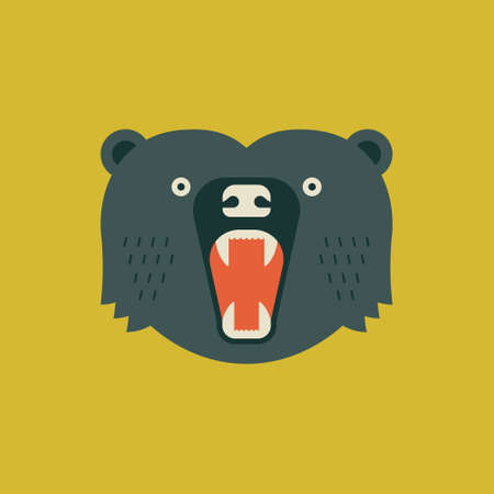 Geometrical illustration of a bear made in vector.