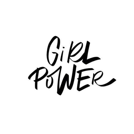 Girl power brush lettering quote Ilustração