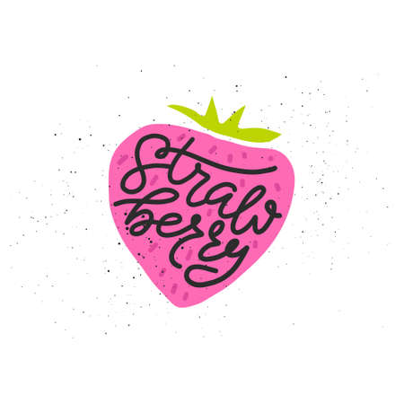 Colorful vector icon of strawberry.  イラスト・ベクター素材