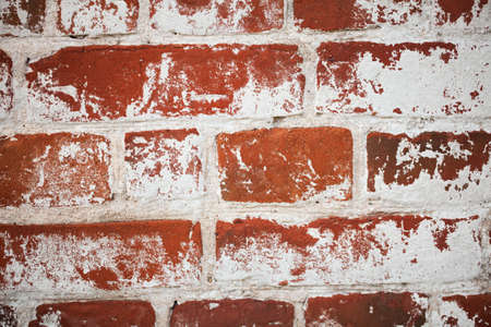 Vintage brick wall of the 100 year old building in Russia. Rough texture background. Banque d'images - 102958600