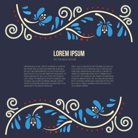 Russian tracery with the space for your text. Welcome to Russia concept. Vector illustration.
