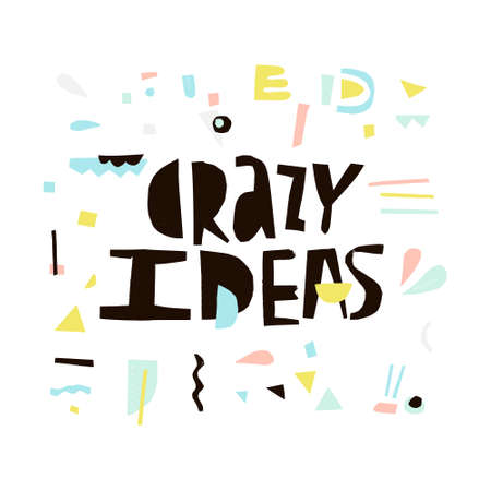 Crazy ideas - quote cut out from paper. Digital scrapbook.