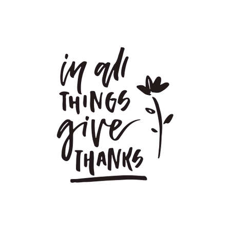 Isolated hand written quote - can be used on thanks giving card or invitation. Great housewarming poster design.