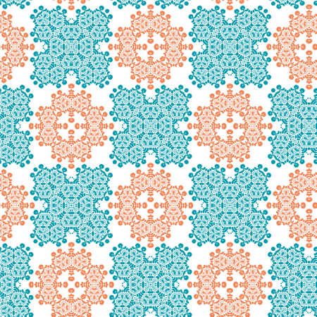 Perfect graphical seamless pattern. Geometrical texture made in vector. Unique background for invitations, cards, websites. Illustration