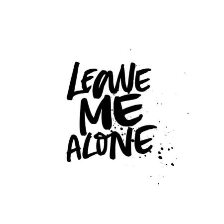 Leave me alone - Vector anti valentine lettering isolated on background.