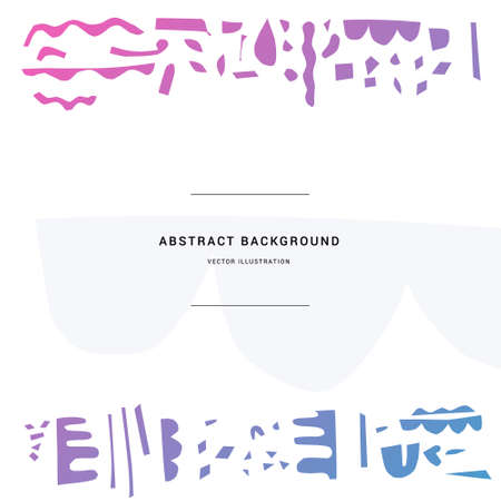 Abstract paper cut vector elements for your backdrop. Frame with place for your text