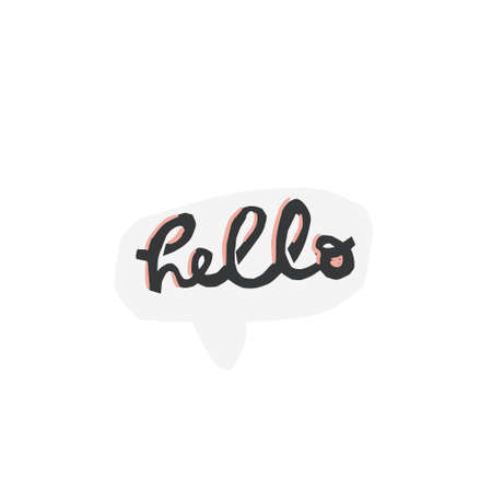Unique lettering cut out from actual paper. Vector word hello