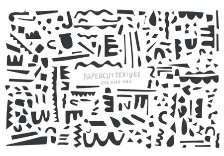 Abstract paper cut vector elements for your backdrop.