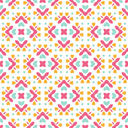 Perfect graphical seamless pattern. Geometrical texture made in vector. Unique background for invitations, cards, websites.  イラスト・ベクター素材