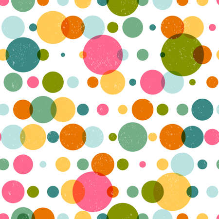 Abstract seamless pattern with colorful shapes made in vector