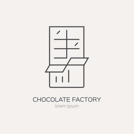 Line style icon of a chocolate. Clean and modern vector illustration. Illustration