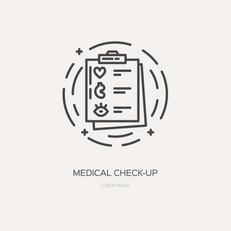 Medical checkup line vector illustration concept