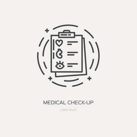 Vektor-Illustrationskonzept der medizinischen Untersuchungslinie Vektorgrafik