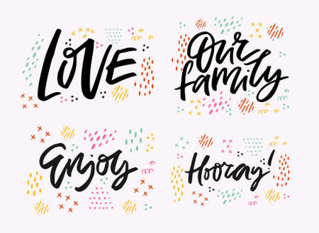 Positive black ink messages set interesting quote ink