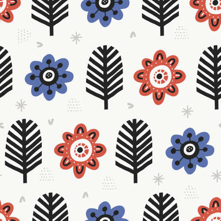 Aster blossoms flat color vector