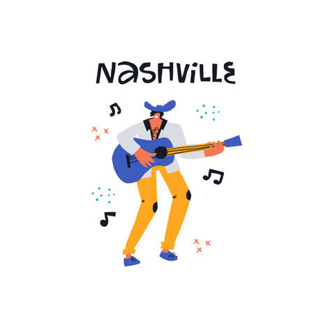 Nashville country singer with guitar