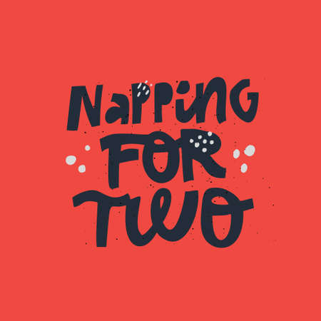 Napping for two black lettering