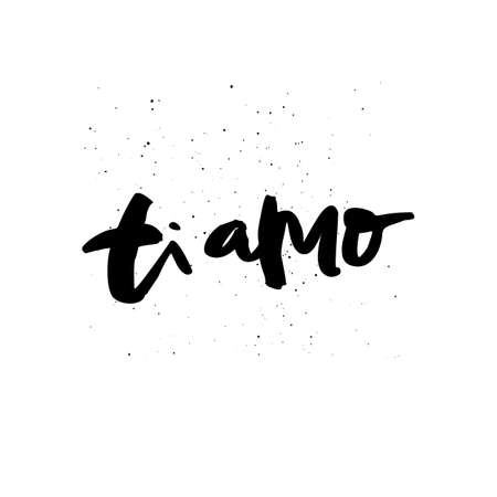 Ti amo hand drawn black