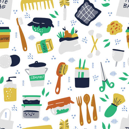 Reusable items hand drawn vector 스톡 콘텐츠 - 134896883