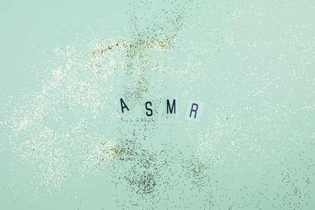 Top view concept of ASMR 版權商用圖片
