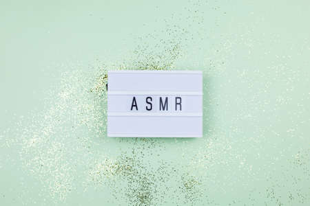 Top view concept of ASMR 写真素材