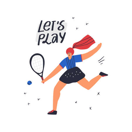 Tennis player exercising hand drawn Reklamní fotografie - 136100759