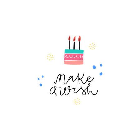 Make a wish vector greeting