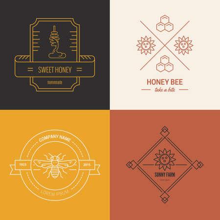 Beekeeping company linear vector
