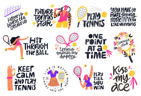 Tennis quotes, positive credos hand