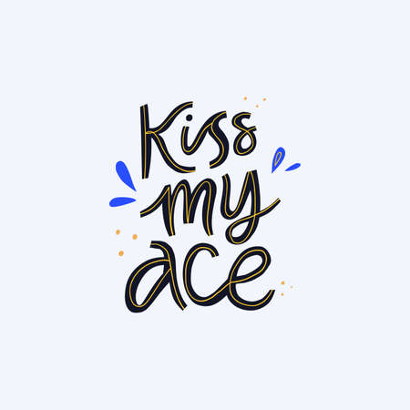 Teasing phrase, quote hand drawn vector lettering. Cheeky motto flat calligraphy with decoration. Handwritten funny sports slogan inscription doodle drawing isolated on white background