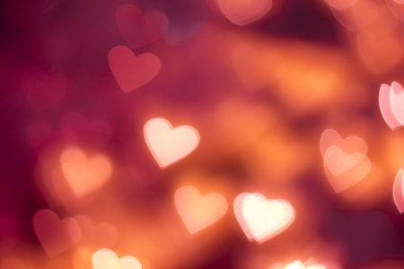 i love u: Red Heart shape bokeh background Stock Photo