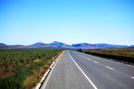 inner mongolia: Inner Mongolia grassland road