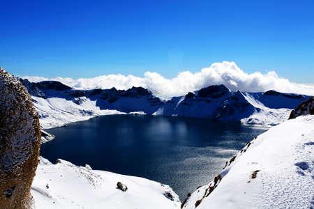 Tianchi landschap Stockfoto - 49504064