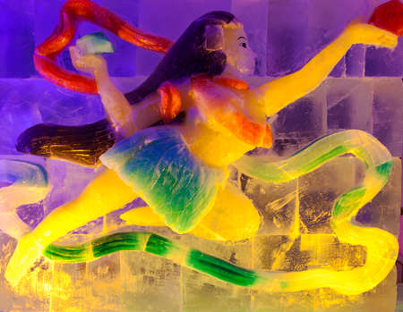 ice sculpture: Color ice sculpture  Editorial