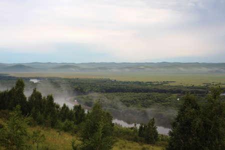 mongolia: Ergun wetland, Inner Mongolia Stock Photo
