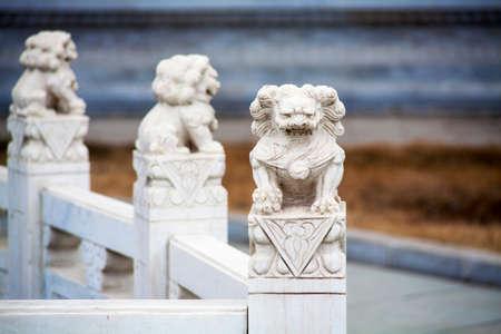 sculptures: stone lion sculptures