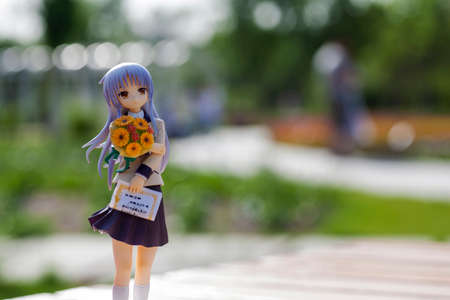 model kit: animations character of Angel Beats Stock Photo
