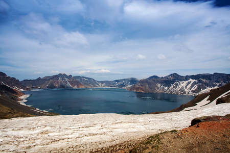 volcano slope: Changbai Mountain Shanxi Tianchi Whitehead slope in summer