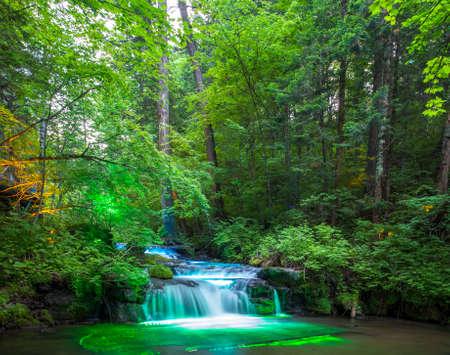 Color waterfall in Changbai Mountain