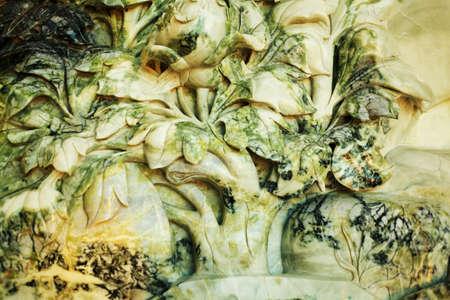 jade plant: Bird, flower & plants jade carving