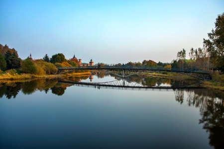 volga: Volga manor autumn landscape bridge